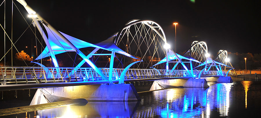 Tempe Town Lake Pedestrian Bridge, Tempe, AZ